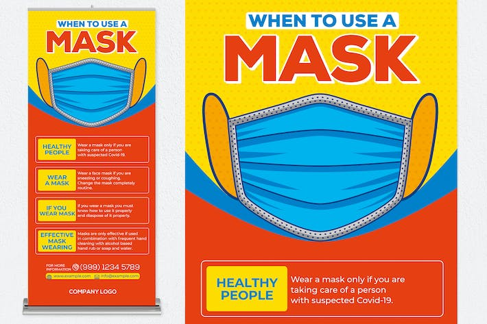 Thumbnail for When To Use A Mask Roll Up Banner