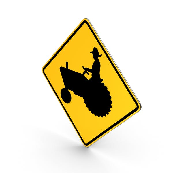 Tractor Farm Vehicle Crossing Road Sign