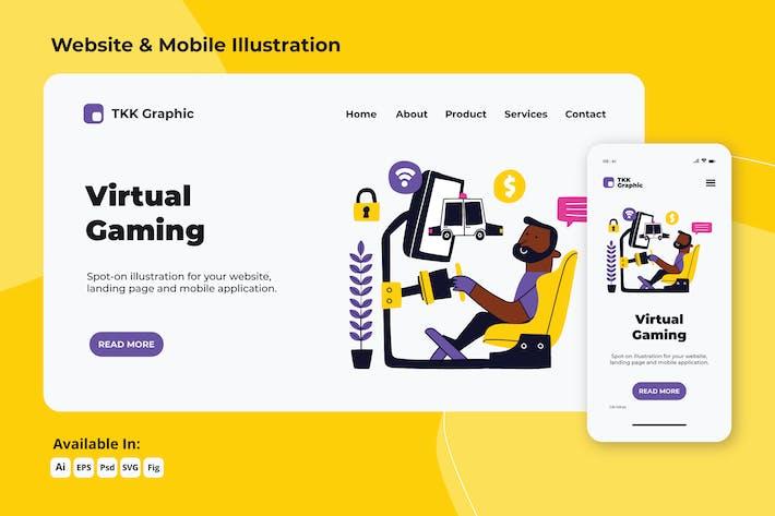 Thumbnail for Virtual Racing web and mobile designs