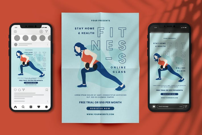 Cover Image For Fitness Online Class
