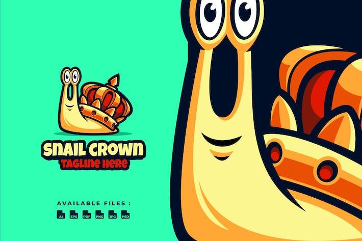 Snail Crown Cartoon Logo