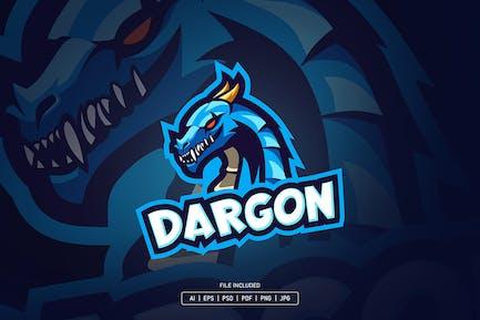 Blue dragon esport logo