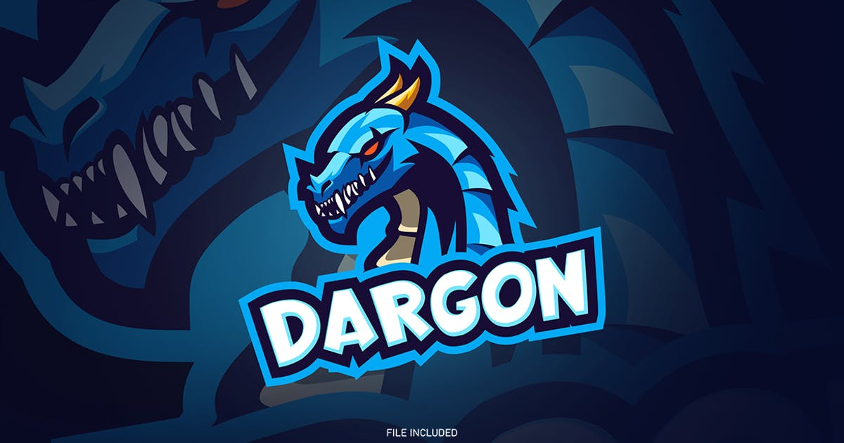 Download Blue dragon esport logo by wudelmbois