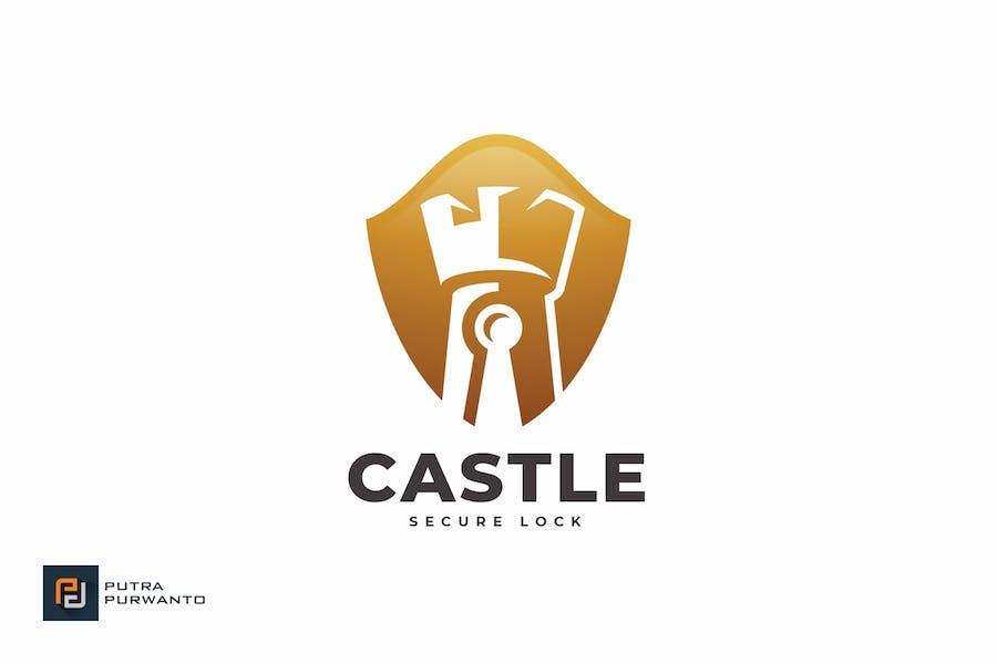 Castle Secure Lock - Logo Template