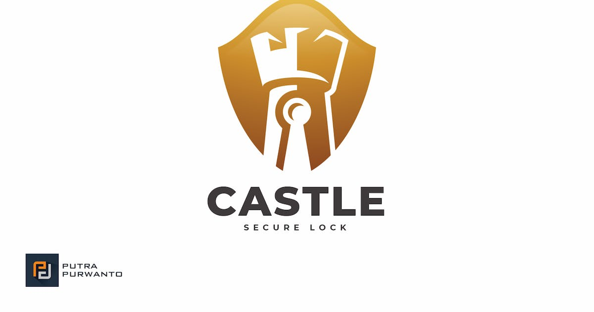 Download Castle Secure Lock - Logo Template by putra_purwanto