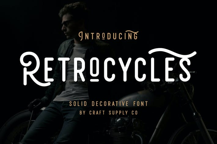 Thumbnail for Retrocycles Font