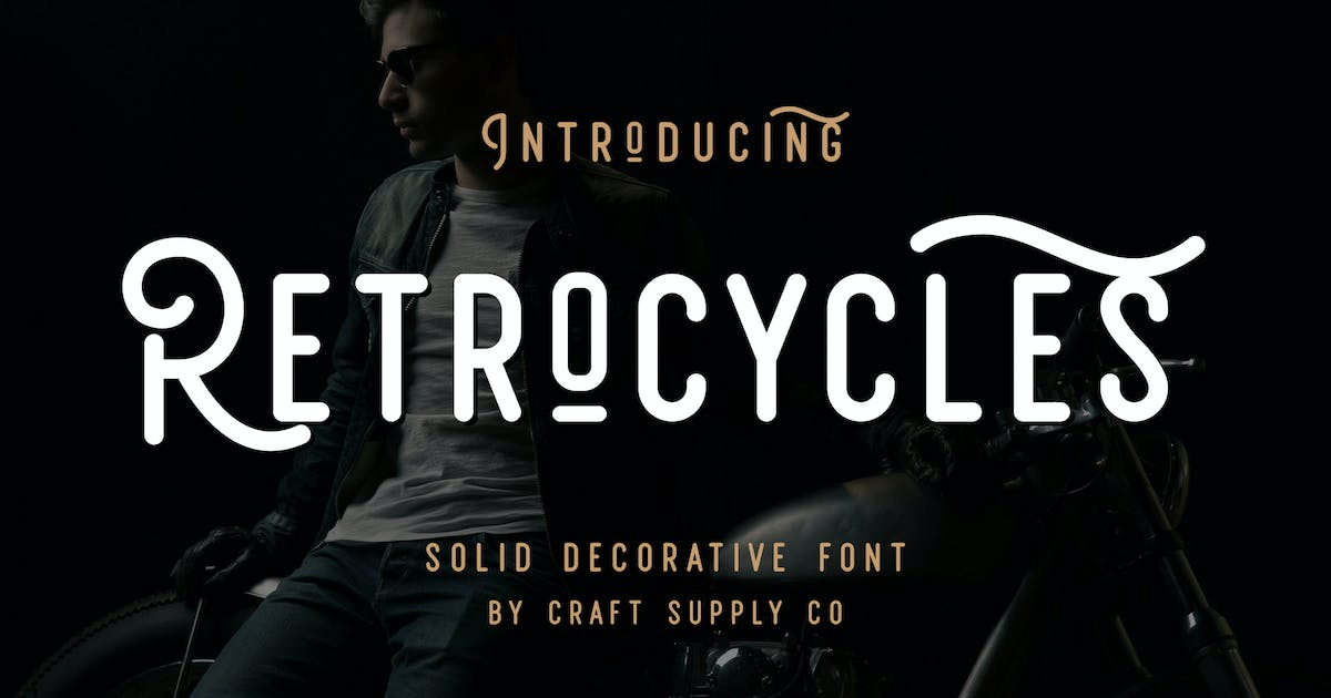 Download Retrocycles Font by craftsupplyco