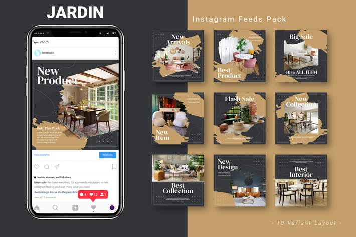 Jardin - Instagram Feed Pack