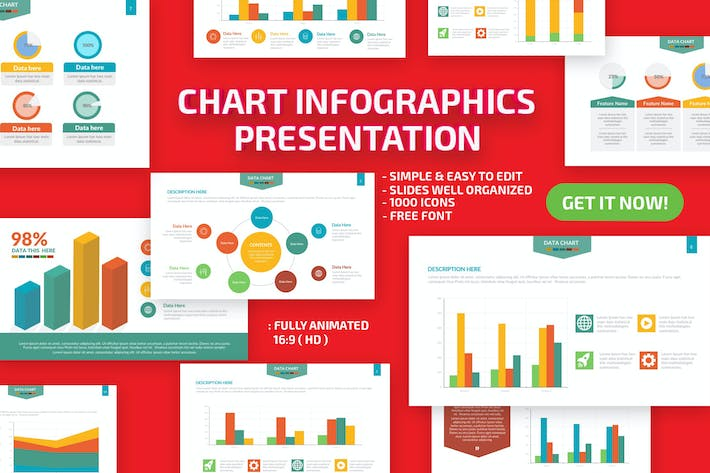 Thumbnail for Chart Infographics Keynote