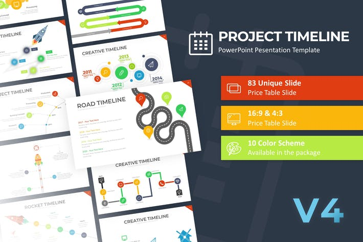 Thumbnail for Project Timeline PowerPoint Template