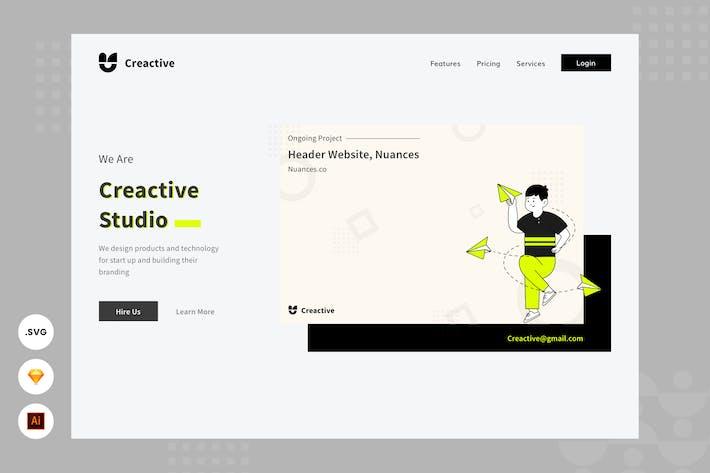 Thumbnail for Creative Studio - Website Header - illustration