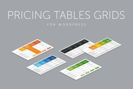 Pricing Tables Grids for WordPress