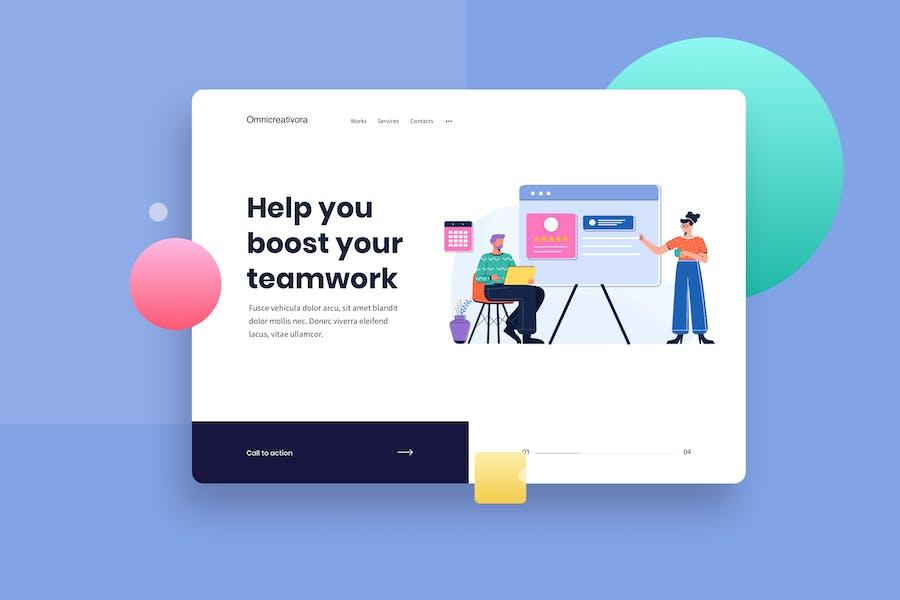 Product Review Presentation Website Header