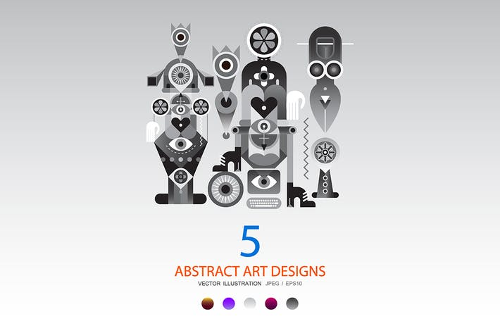 Thumbnail for 5 options of a Modern Abstract Art Design