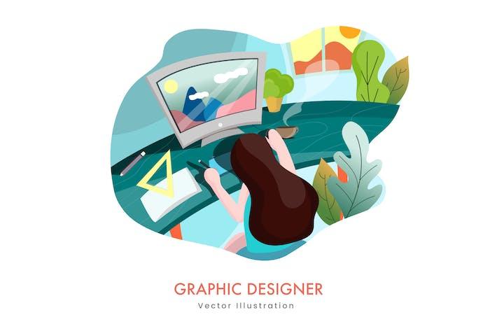 Thumbnail for Graphic designer Vector Illustration