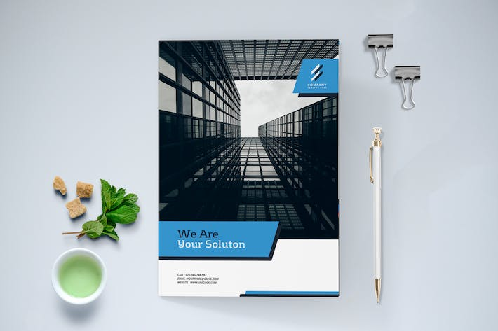 Cover Image For Modern Business Brochure Bi-Fold