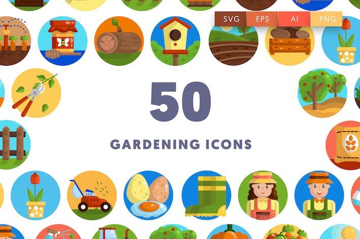 50 Gartenarbeit-Icons