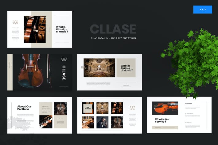 Thumbnail for Cllase - Classical Music Keynote Template