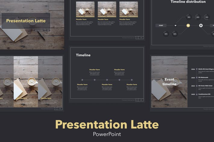 Cover Image For Latte PowerPoint Template