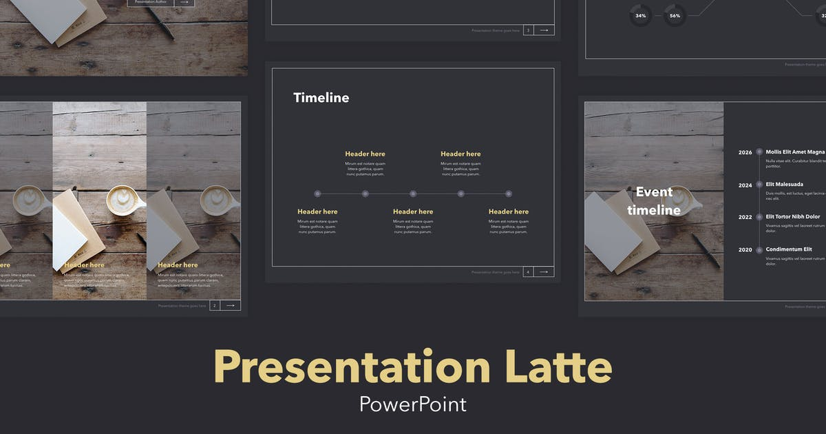 Download Latte PowerPoint Template by Unknow