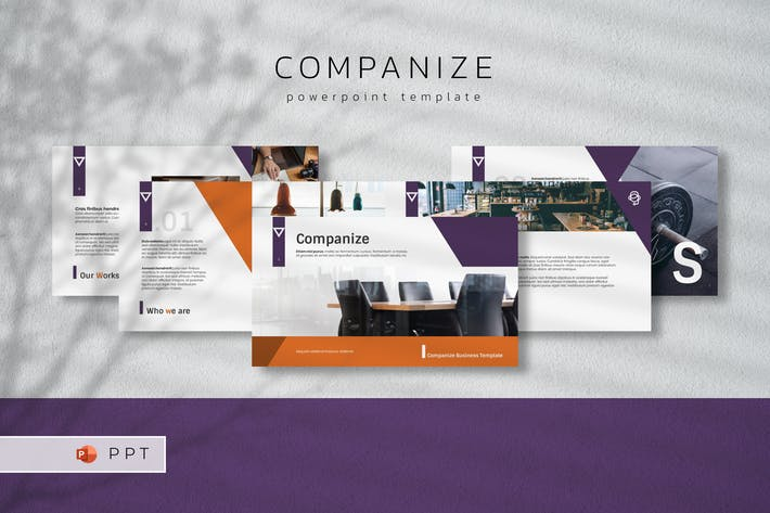 Thumbnail for COMPANIZE - Business Powerpoint Template