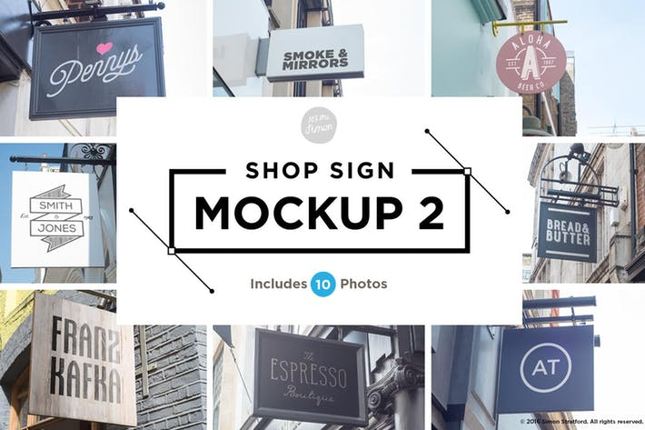 Thumbnail for Shop sign mockups 2