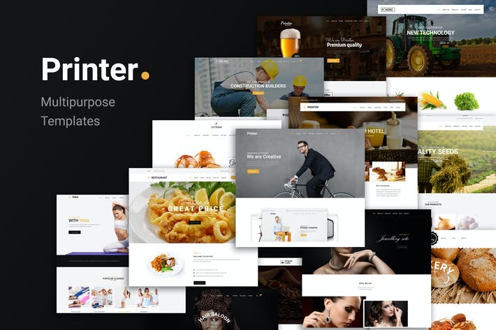 Printer - Responsive MultiPurpose HTML5 Template