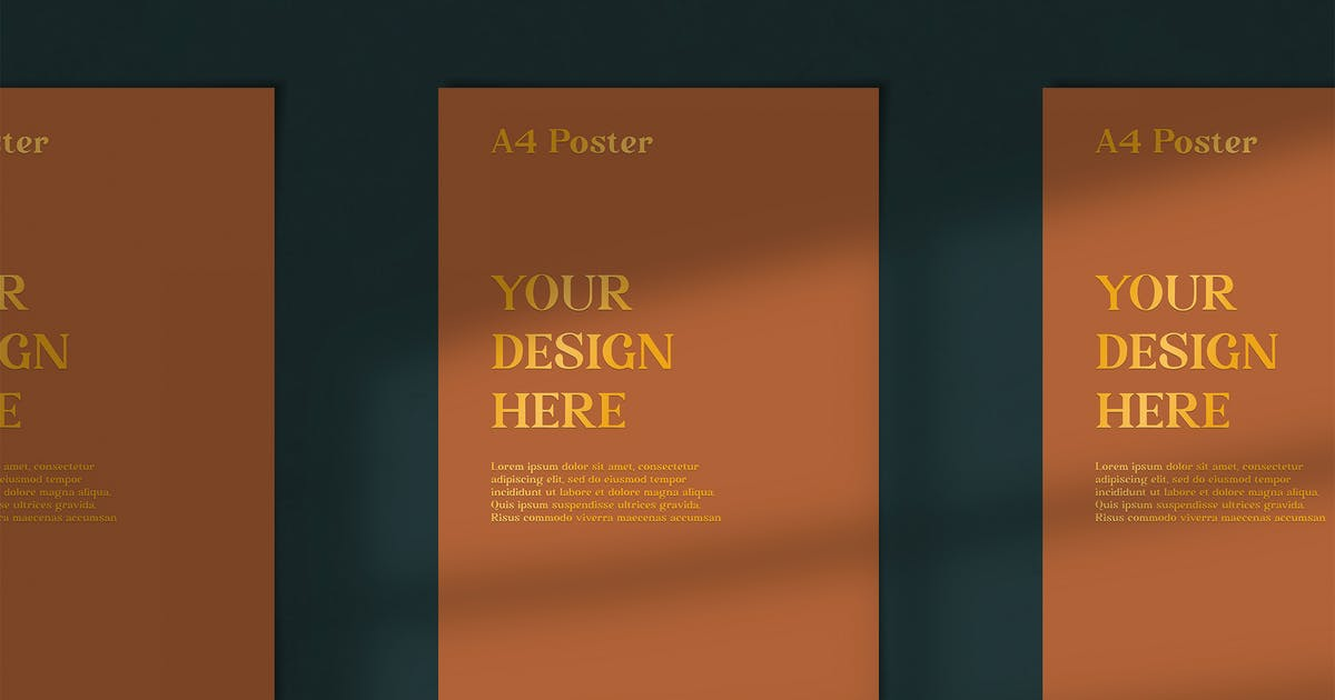Download Minimalistic Potrait Poster by MartypeCo