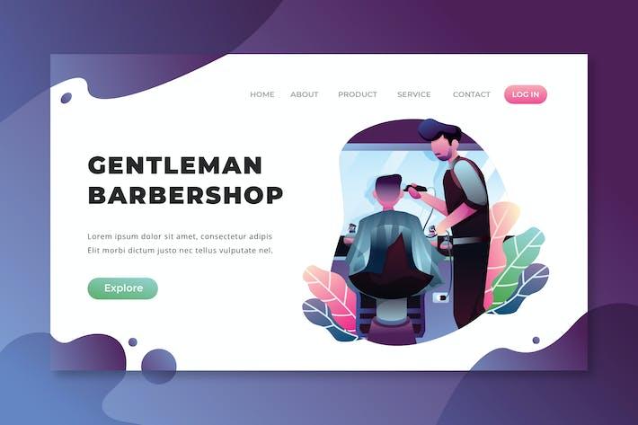 Thumbnail for Gentleman Barbershop - PSD AI Vektor Zielseite