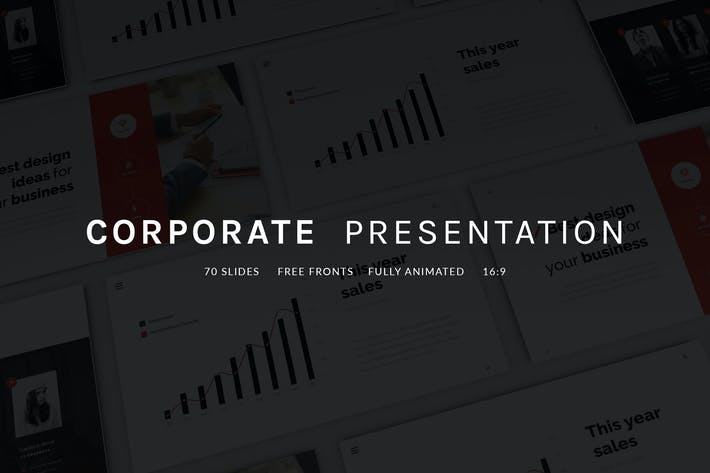 Download presentation templates envato elements thumbnail for corporate presentation wajeb Images