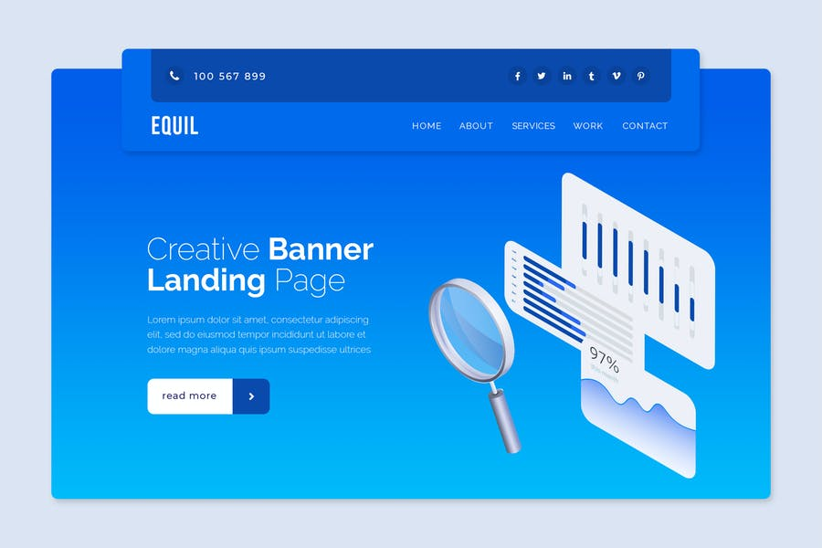 Equil - Hero Banner Template