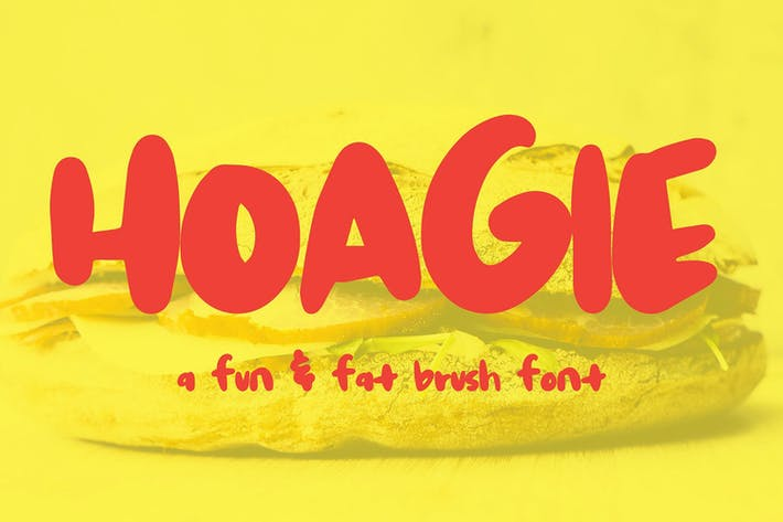 Thumbnail for Hoagie Brush Font