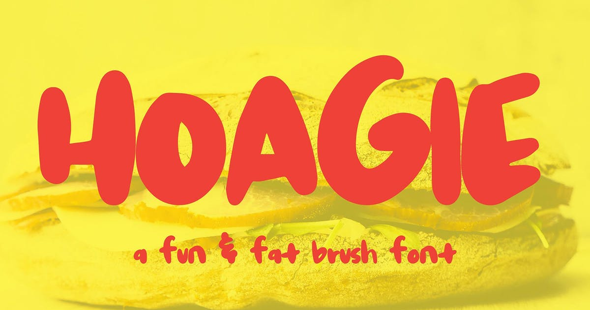 Download Hoagie Brush Font by thinkmake