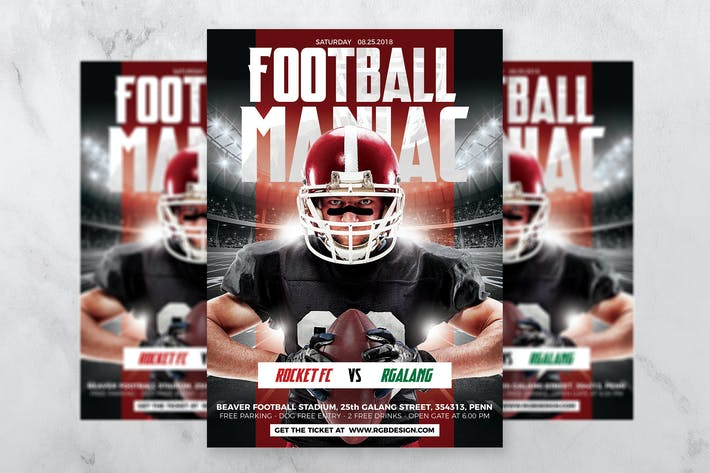 Thumbnail for Football Maniac Flyer