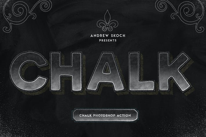 Thumbnail for Chalk Lettering - Photoshop Action