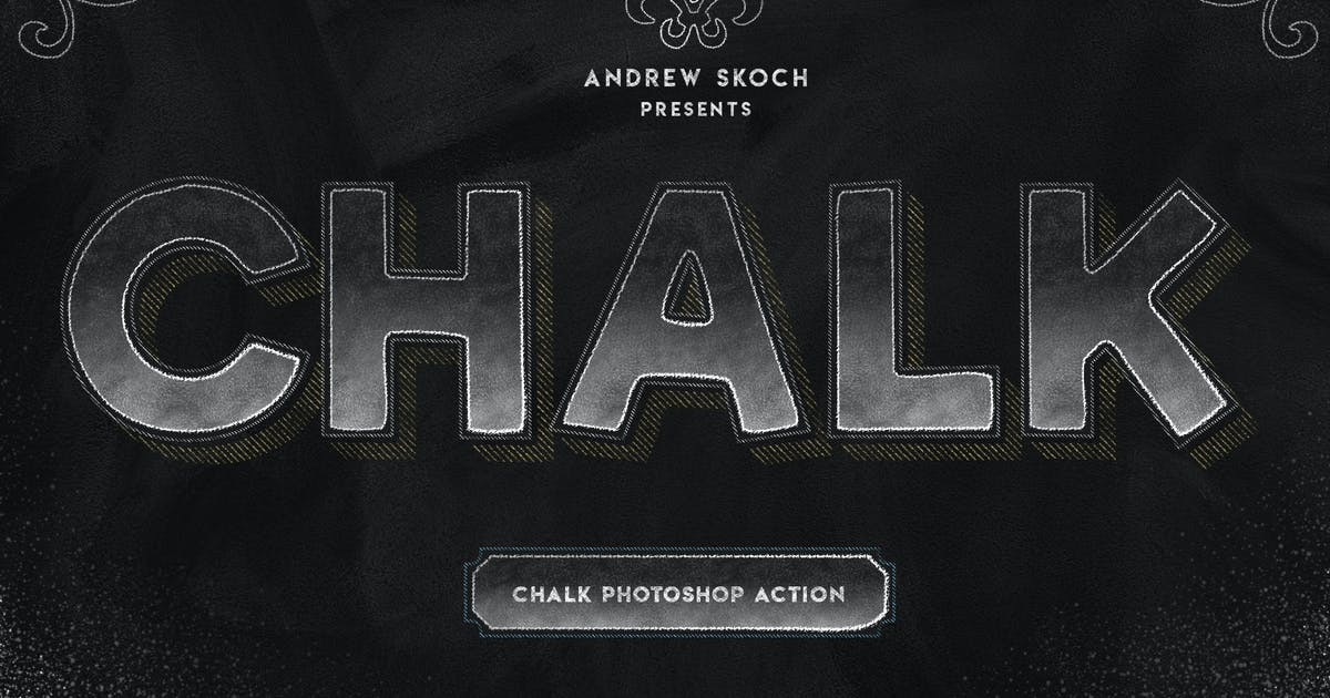 Download Chalk Lettering - Photoshop Action by Sko4