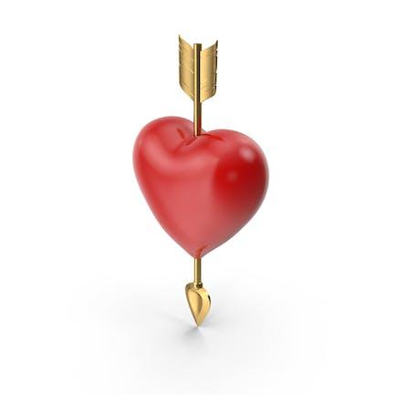 Solides Herz mit Pfeil
