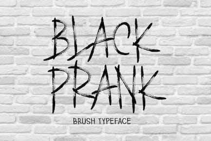AM Black Prank - Brush Font