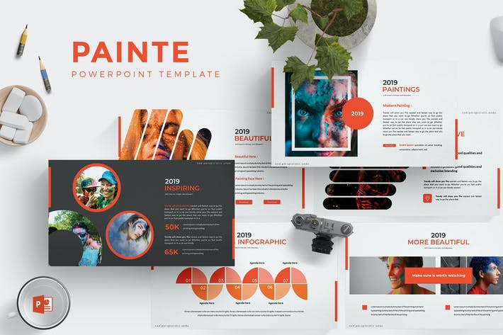 Thumbnail for Painte - Powerpoint Template