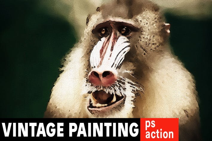 Thumbnail for 18th Century Painting Photoshop Action