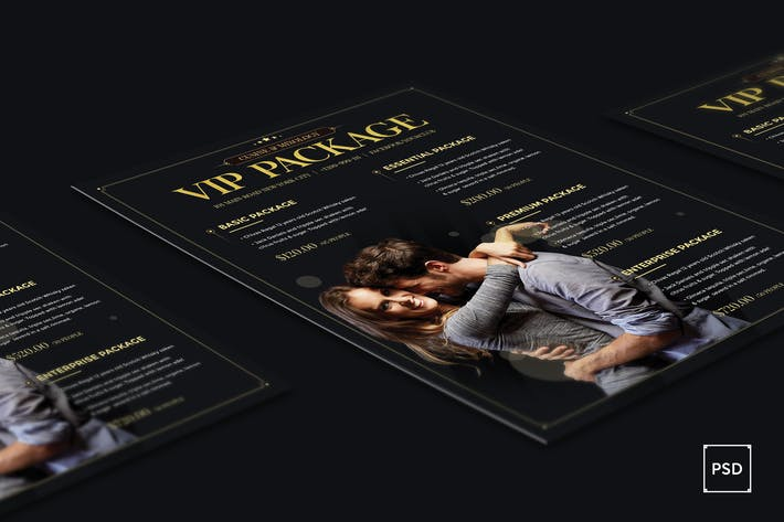 Thumbnail for Bar Club VIP Package Flyer PSD Template
