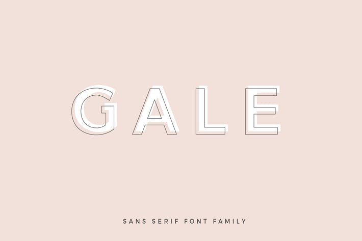 Thumbnail for Gale - Feminine Geometric Sans Serif