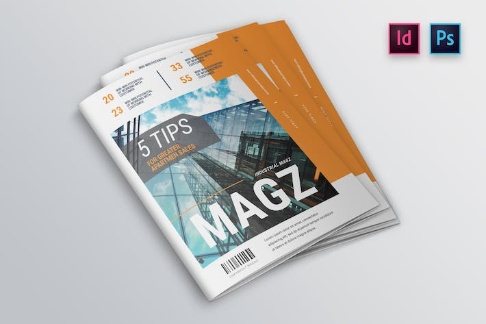 Industrial Magazine Cover Template