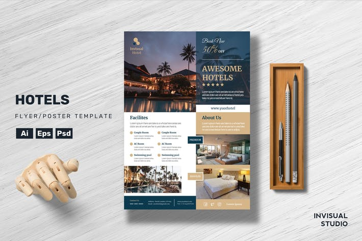 Thumbnail for Hotel - Flyer Template