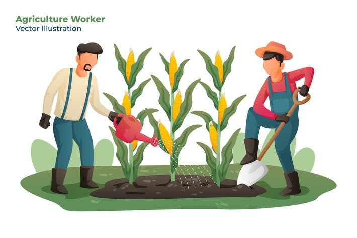 Agriculture Worker - Vector Illustration
