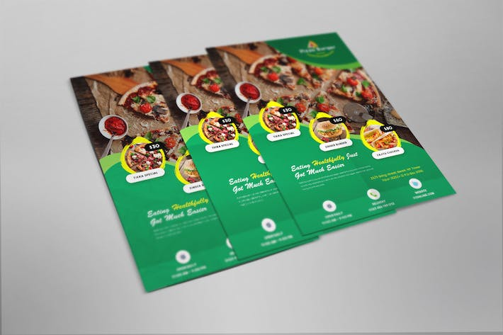 Cover Image For Restaurant Flyer Template