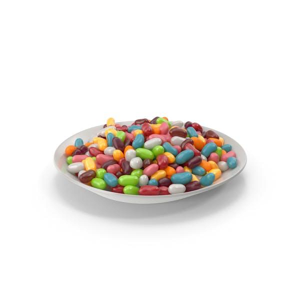 Plato con Jellybeans