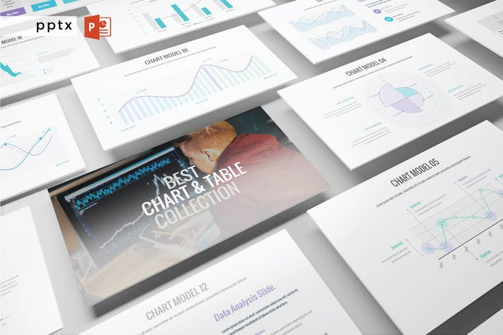 Thumbnail for BEST CHART & TABLE COLLECTION  - Powerpoint  V365