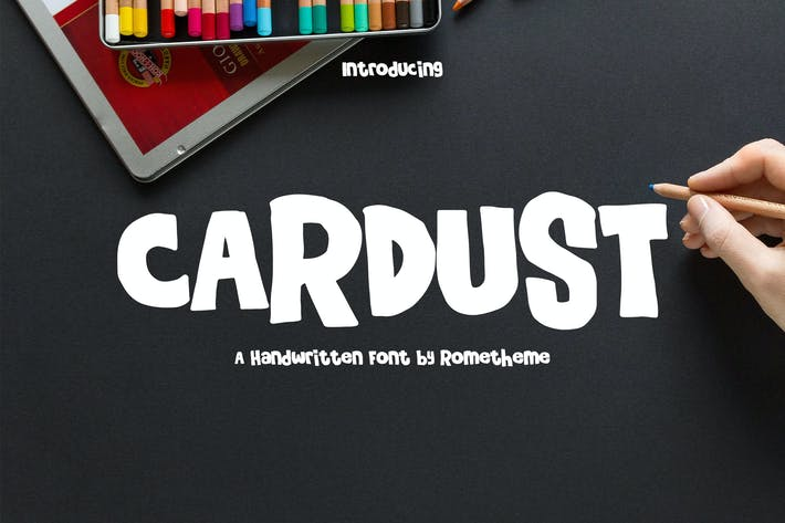 Thumbnail for Cardust - Fun Font