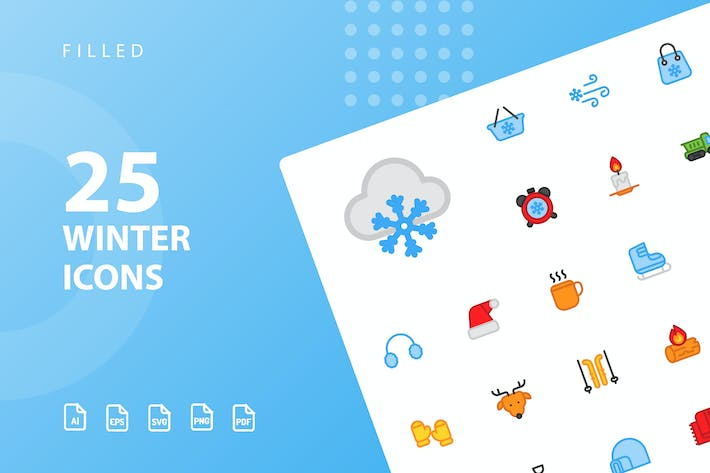 Thumbnail for Winter Filled Icons